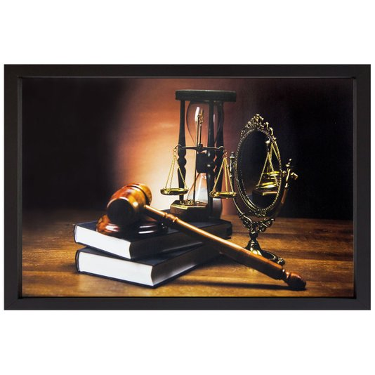 Quadro Advocacia Símbolo da Justiça II - 50x35cm