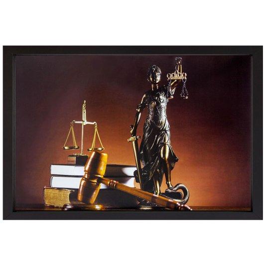 Quadro Advocacia Símbolo da Justiça III - 50x35cm