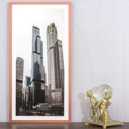 Quadro Arquitetura Foto Arranha-céus em Chicago 40x70 cm