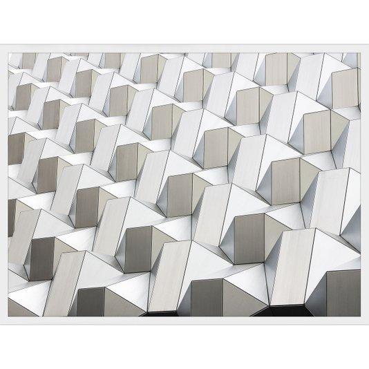 Quadro Arquitetura Futurística e Geométrica de Edifício Na Cidade Dresden - Alemanha 80x60cm