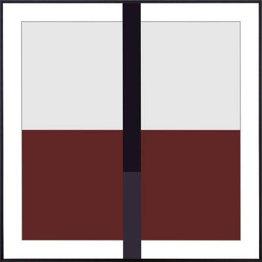 Quadro Arte Geométrica Abstrata Tela Canvas com Moldura 120x120cm
