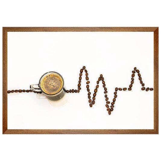 Quadro Bebidas Eletrocardiograma de Grãos de Café 60x40 cm