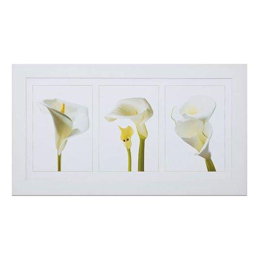 Quadro com Imagem de Flor Copo de Leite 110x60cm