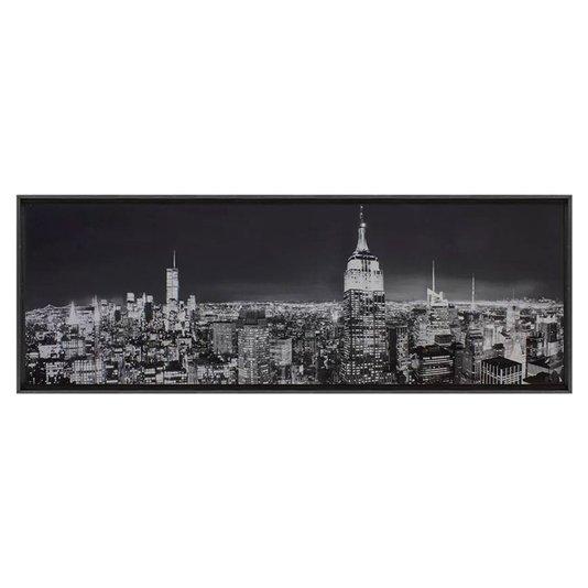 Quadro com Impressão em Tela Preto e Branco New York 150x50cm