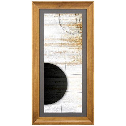 Quadro com Impressão Personalizada Abstrata Meia Lua 45x90cm