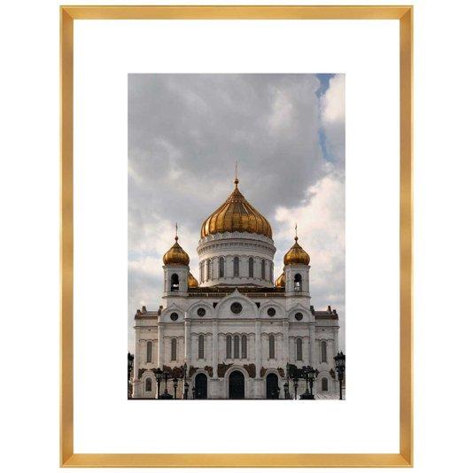 Quadro com Moldura Dourada Catedral de Cristo Salvador 65x85 cm