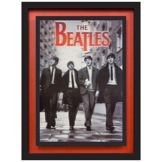 Quadro com Moldura Preta 3D The Beatles 65x85cm