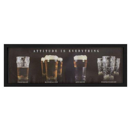 Quadro com Profundidade Copos de Cerveja Atitude é Tudo 90x30cm