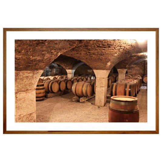 Quadro de Bebidas Adega Barril de Vinho 90x60 cm