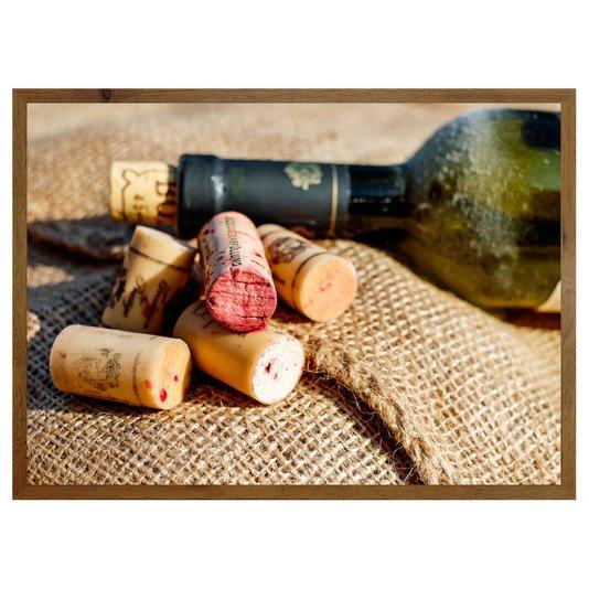 Quadro de Vinho para Área de Lazer, Adega 70x50cm