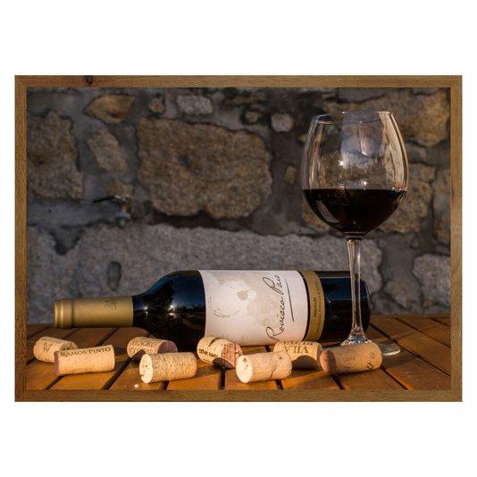 Quadro de Vinho para Área de Lazer, Adega e Bar em Casa 70x50cm