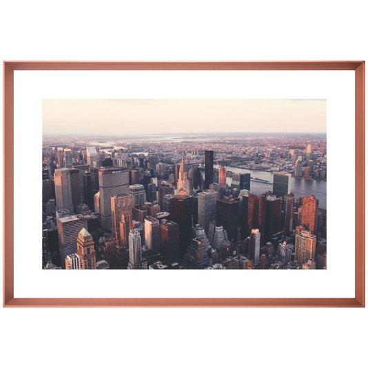 Quadro Décor com Imagem Vista Aérea de Nova York 125x85 cm