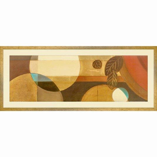 Quadro Decorativo Abstrato Arte de Patricia Pinto 100x40cm