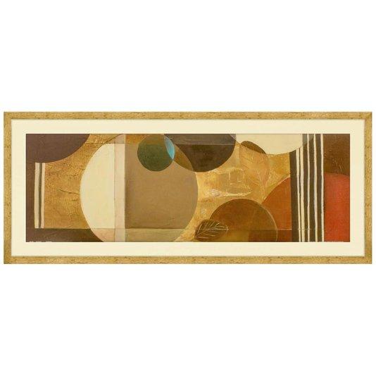 Quadro Decorativo Abstrato Arte de Patricia Pinto II - 100x40cm