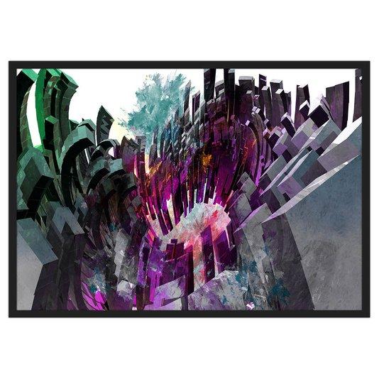 Quadro Decorativo Abstrato Colorido Formas Abstratas 100x70cm