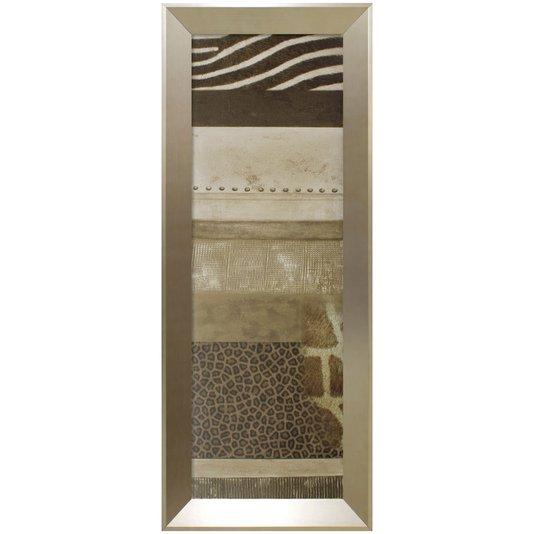 Quadro Decorativo Abstrato Estampa de Animais 40x100cm
