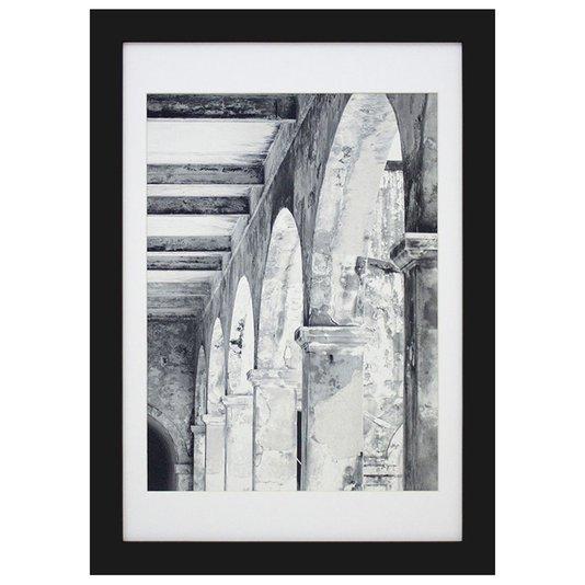 Quadro Decorativo Arquitetônico Construção Antiga 40x50cm