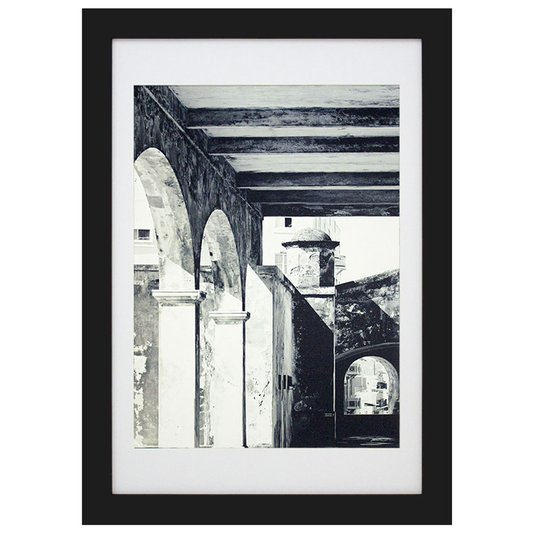 Quadro Decorativo Arquitetônico Construção Antiga 40x50cm - DP1630
