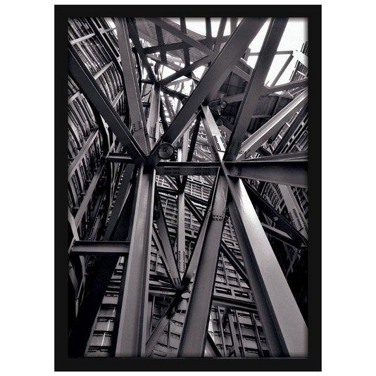 Quadro Decorativo Arquitetônico Estrutura Metálica Construção 50x70cm