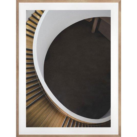 Quadro Decorativo Arquitetura Moderna Escada em Espiral 60x80 Cm