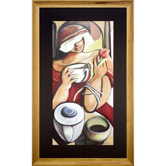 Quadro Decorativo Arte Figurativa Moderna Mulher 80x130 cm