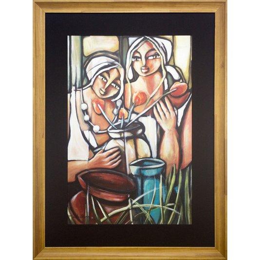 Quadro Decorativo Arte Figurativa Moderna Mulheres 90x120 cm