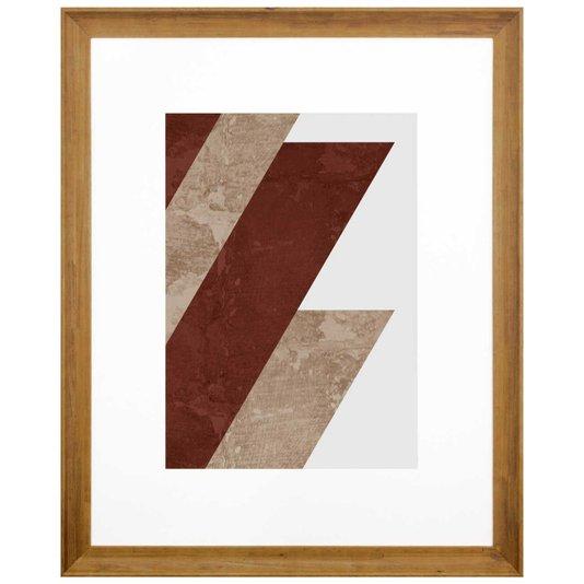 Quadro Decorativo Arte Moderna Geométrico Faixas 90x110 cm