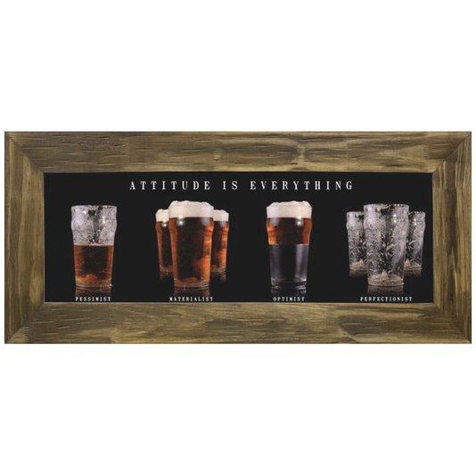 Quadro Decorativo Atitude é Tudo Copos de Cerveja 110x50cm