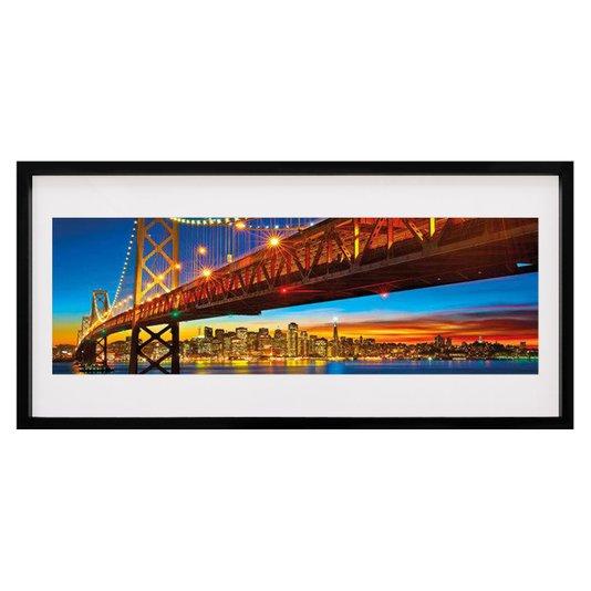 Quadro Decorativo Bay Bridge Ponte São Francisco 100x50cm