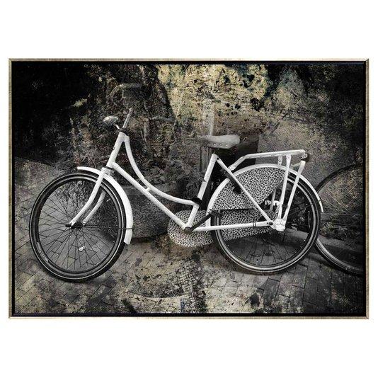 Quadro Decorativo Bicicleta Branca por Dorival Moreira 140x100cm