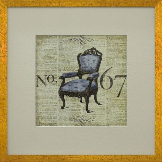 Quadro Decorativo Cadeira Closet 50x50cm