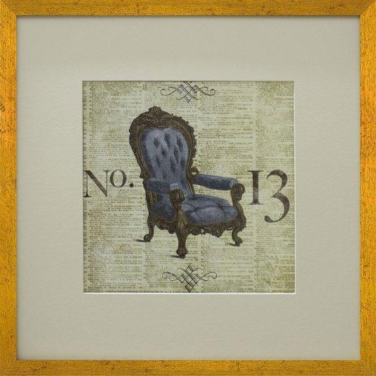 Quadro Decorativo Cadeira Closet II 50x50cm