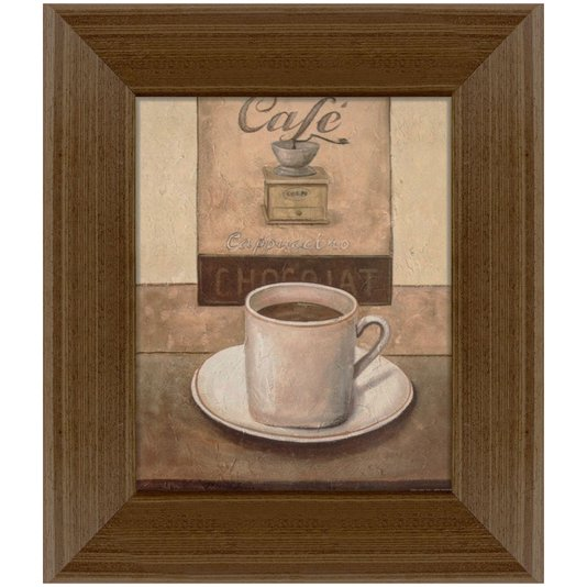Quadro Decorativo Café Cappuccino Chocolate 35x45cm