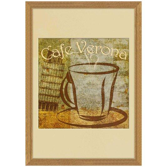 Quadro Decorativo Café de Verona 40x50cm