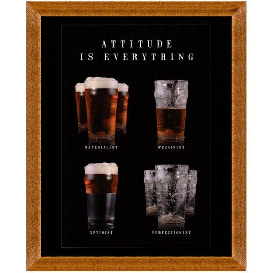 Quadro Decorativo Cervejas Atitude é Tudo 90x110cm