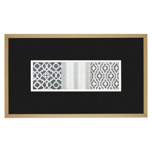 Quadro Decorativo com Estampa Étnica II - 75x45cm