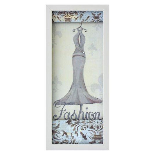 Quadro Decorativo com Imagem Sobreposta Fashion Arte de Hakimipour Ritter 20x50cm