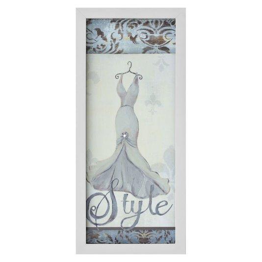 Quadro Decorativo com Imagem Sobreposta Style Arte de Hakimipour Ritter 20x50cm