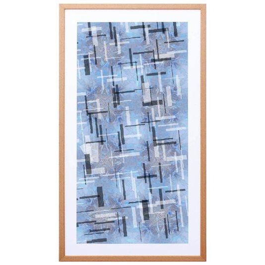 Quadro Decorativo com Impressão Personalizada Abstrata Colorida 50x90cm