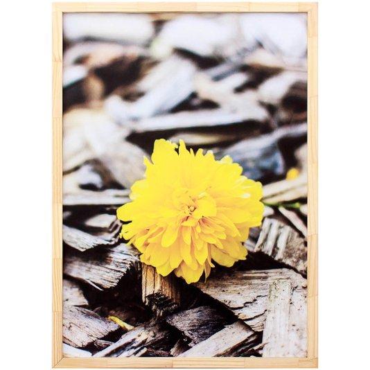 Quadro Decorativo com Impressão Personalizada Flor Amarela 50x70cm