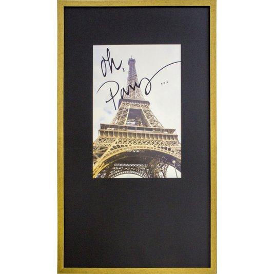 Quadro Decorativo com Moldura Dourada Torre Eiffel - Paris 50x90cm