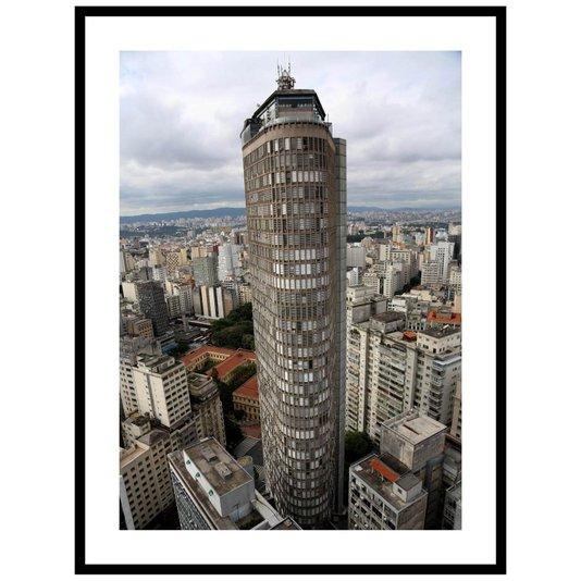 Quadro Decorativo com Moldura Preta Edifício Itália em São Paulo 60x80cm