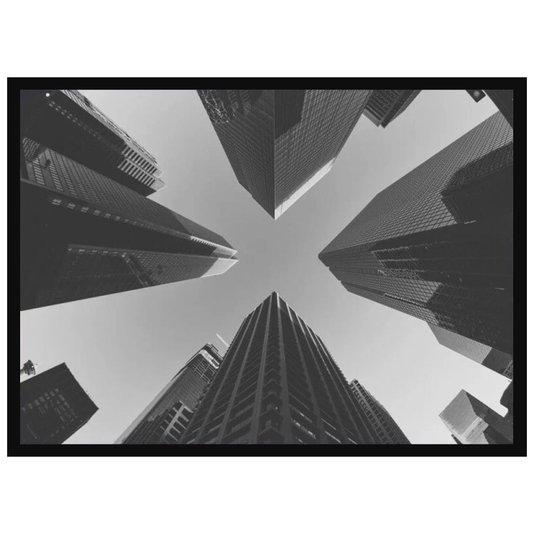 Quadro Decorativo com Moldura Preta Edifícios Arquitetura Moderna 70x50cm