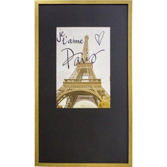 Quadro Decorativo com Moldura Torre Eiffel - Paris 50x90cm
