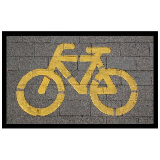 Quadro Decorativo Criativo Bicicleta Amarela 50x30cm