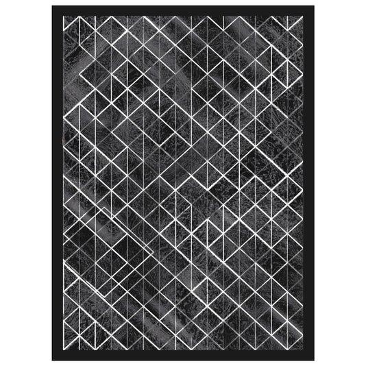 Quadro Decorativo em Preto e Branco Abstrato Black 50x70cm