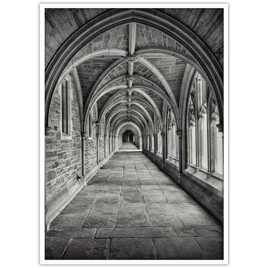 Quadro Decorativo em Preto e Branco Arquitetura Religiosa 100x140cm