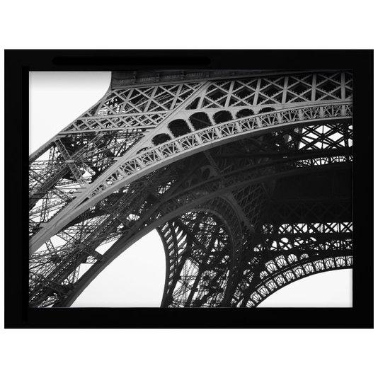 Quadro Decorativo em Preto e Branco Estrutura Torre Eiffel 40x30cm