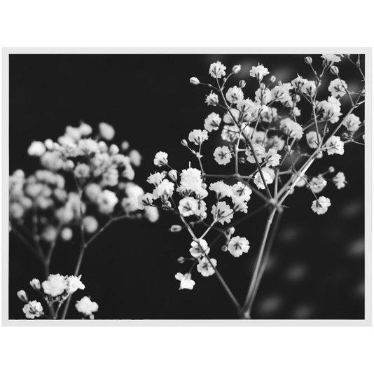 Quadro Decorativo em Preto e Branco Floral Arte Flowers II - 120x90cm