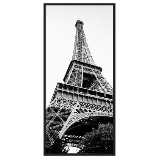 Quadro Decorativo em Preto e Branco Paris Torre Eiffel 70x140cm